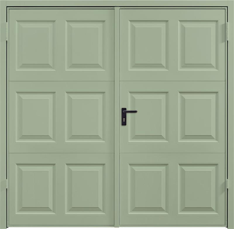 Georgian Chartwell Green Side Hinged Garage Door