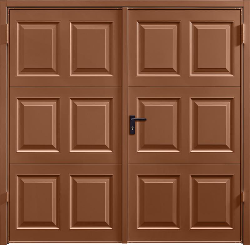 Georgian Clay Brown Side Hinged Garage Door