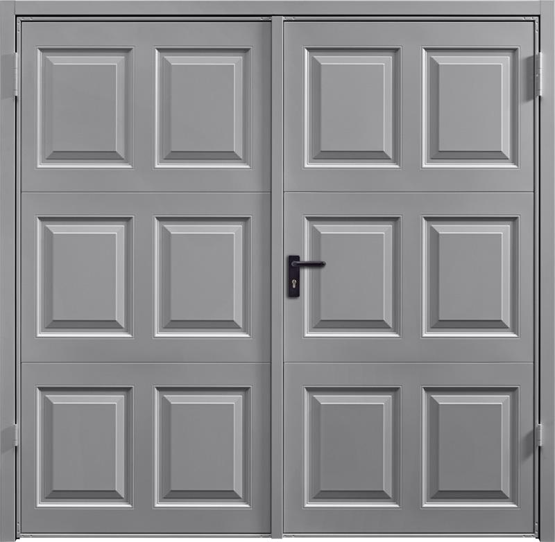 Georgian Grey Aluminium Side Hinged Garage Door