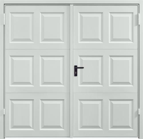Georgian Light-Grey Side Hinged Garage Door