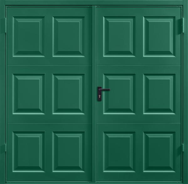 Georgian Moss Green Side Hinged Garage Door