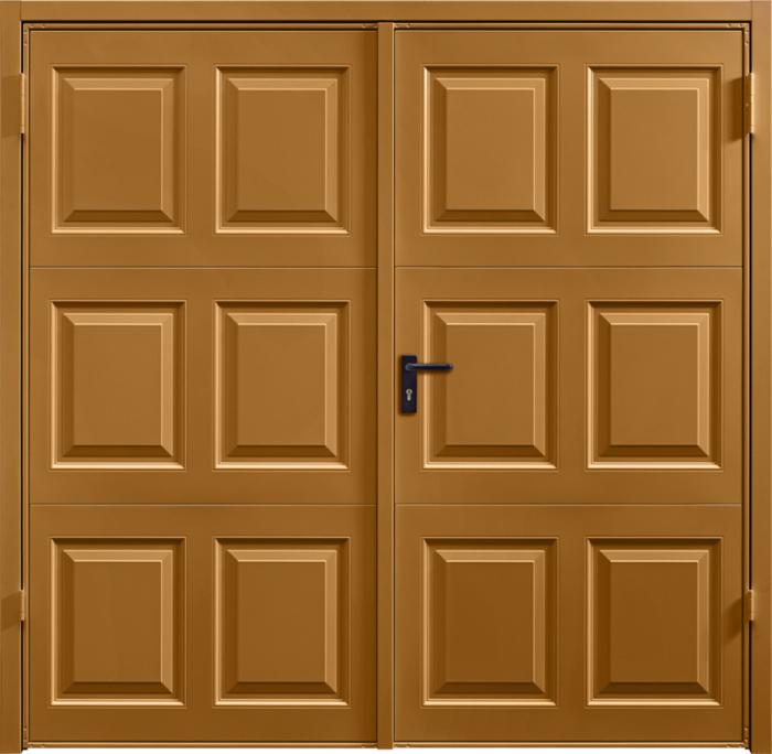 Georgian Ochre Brown Side Hinged Garage Door