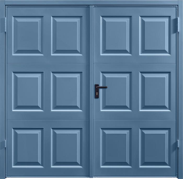 Georgian Pigeon Blue Side Hinged Garage Door