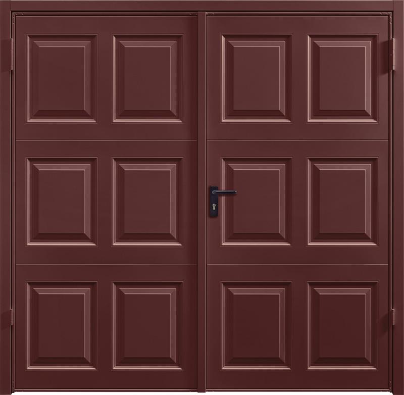 Georgian Rosewood Solid Side Hinged Garage Door