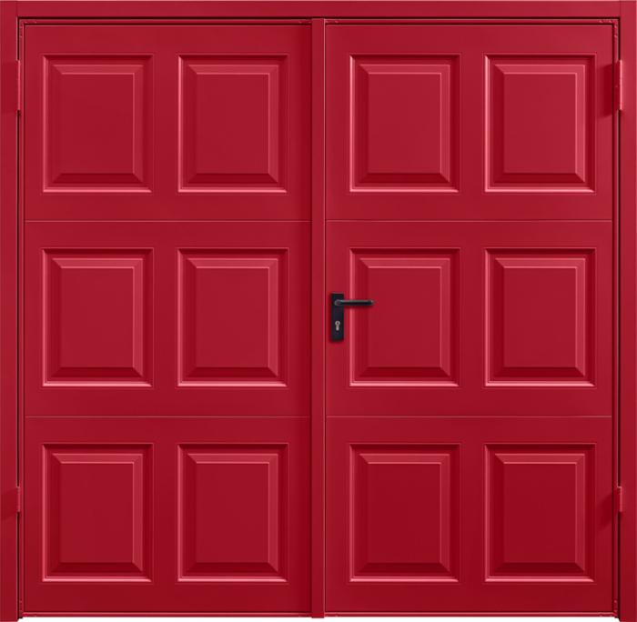 Georgian Ruby Red Side Hinged Garage Door