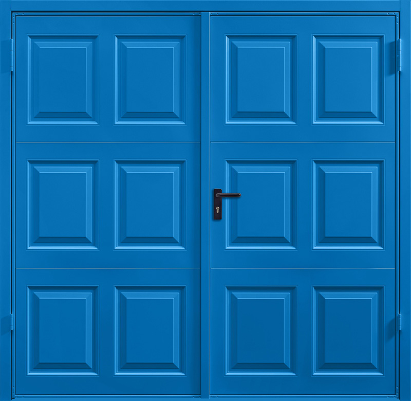 Georgian Signal Blue Side Hinged Garage Door