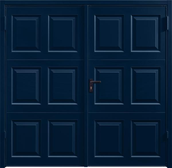 Georgian Steel Blue Side Hinged Garage Door