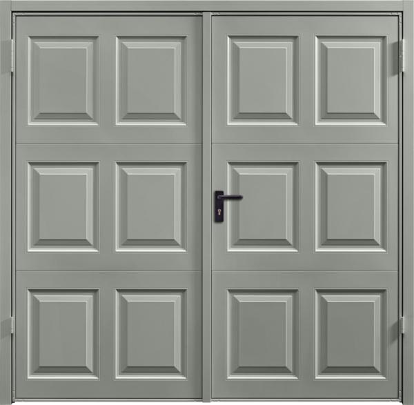 Georgian Stone Grey Side Hinged Garage Door