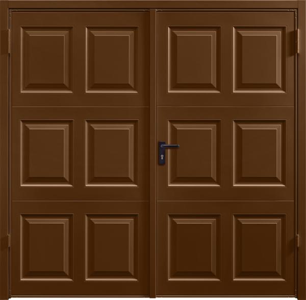 Georgian Terra Brown Side Hinged Garage Door