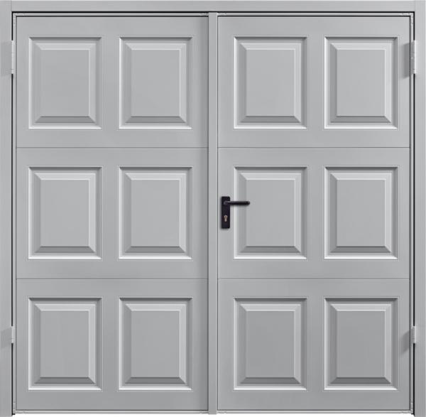 Georgian White Aluminium Side Hinged Garage Door