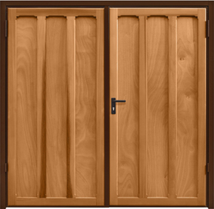 Seymour Light Oak Side Hinged Garage Door
