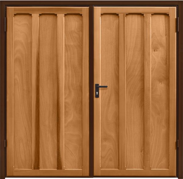 Seymour Light Oak Side Hinged Garage Door