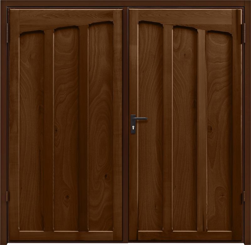 Tudor Antique Oak Side Hinged Garage Door